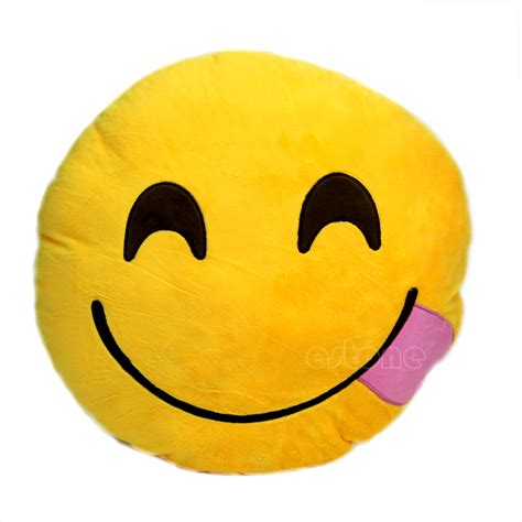 Emoticon Pillow by Details About New Emoji Smiley Emoticon Yellow Cushion Pillow Stuffed Plush Soft