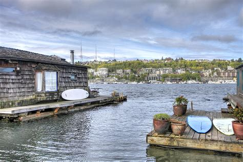 lake view house boats seattle floating homes