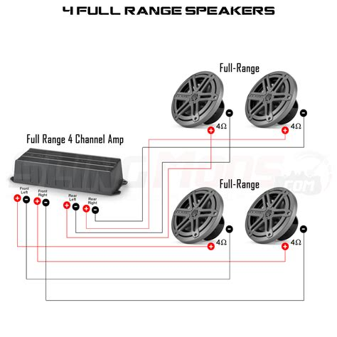 4 channel lifier speaker wiring diagram 4 switch diagram