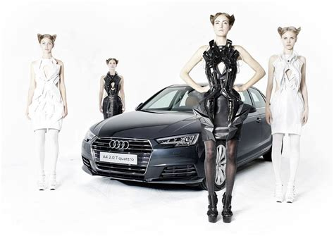 Audia Dress anouk wipprecht s 3d printed audi a4 dress collection