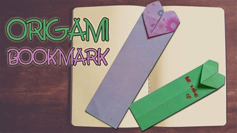 How To Make A Bookmark Out Of Paper - origami easy origami bookmark