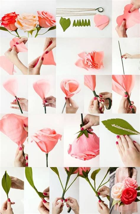 How To Make Large Paper Roses - diy crepe paper roses diy and home improvement