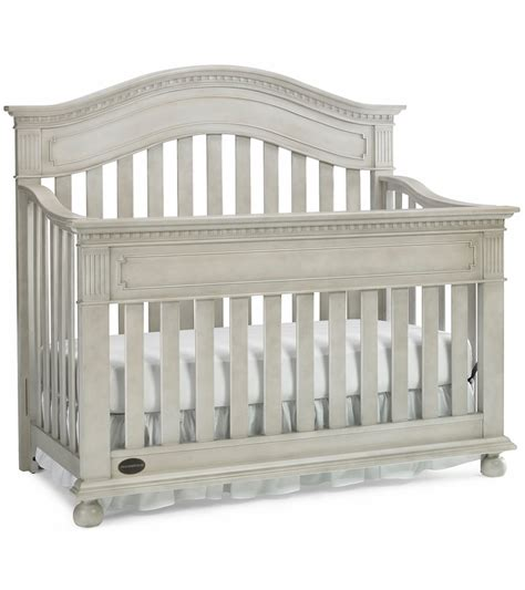 Grey Baby Cribs Dolce Babi Naples Convertible Crib In Grey Satin