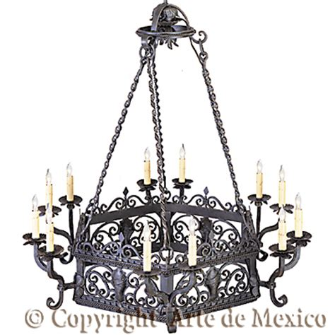 wrought iron chandeliers mexican ch079 1 wrought iron lighting page