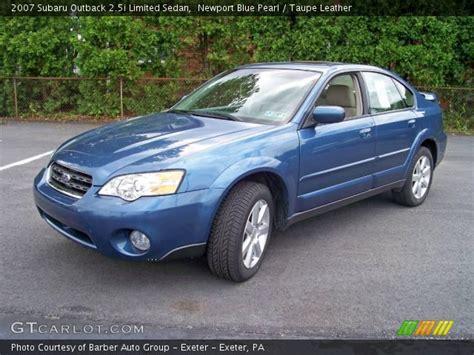 blue subaru outback 2007 newport blue pearl 2007 subaru outback 2 5i limited