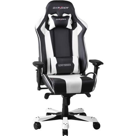 dxracer chaise dxracer king fauteuil gamer blanc oh kf06 nw si 232 ge