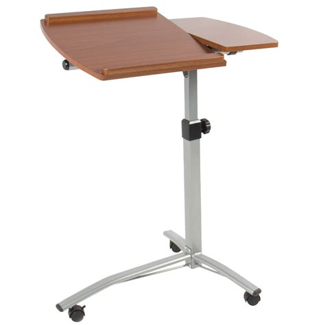 angle height adjustable rolling laptop desk cart  bed hospital table stand ebay