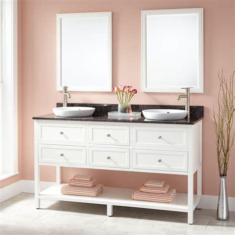 robertsons bathroom 60 quot robertson double vanity for semi recessed sinks