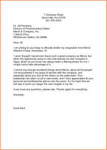 Professional Resignation Letter Sles by 9 Professional Letter Of Resignation Registration Statement 2017