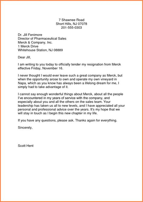 Resignation Letter Sle To Manager Letters Of Resignation Sles Simple Resignation Letter Exle Sales Report Template 9