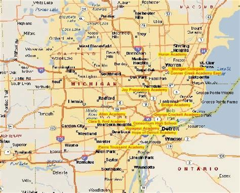united states map detroit michigan maps update 700603 detroit tourist attractions map 13