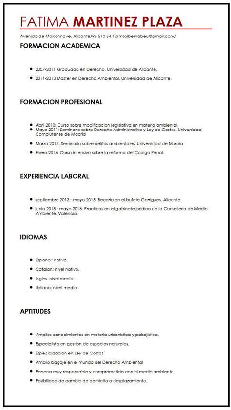 Modelo Curriculum Vitae Para Universidad ejemplo de cv para trabajo a tiempo completo muestra