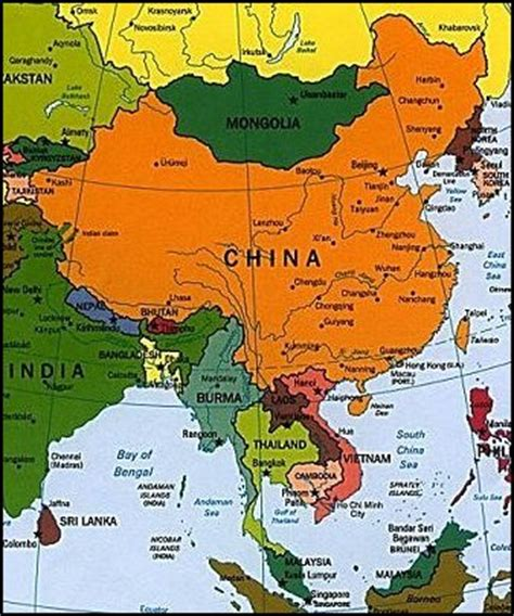 asia map china china and south east asia god s geography