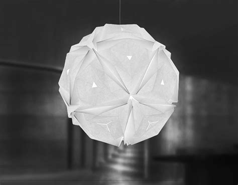 Origami Light Fixture - jiangmei wu creates beautiful origami inspired pendant