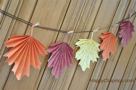 Folded Paper Decorations - 7 simple diy thanksgiving decorations the paper