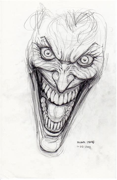 sketch of tattoo art joker joker sketch 11 25 2012 by myconius on deviantart