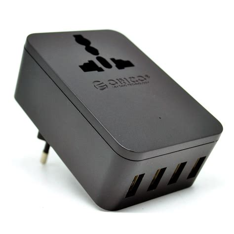 Charger Orico 20w Travel Power With 4 Usb Charging Ports Original orico 20w universal travel power with 4 usb charging ports s4u black jakartanotebook