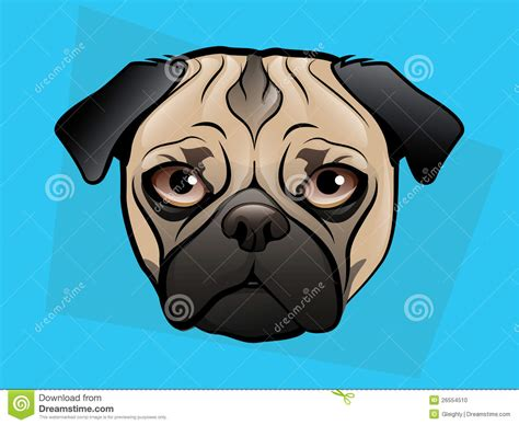 pug illustration pug illustration stock photo image 26554510