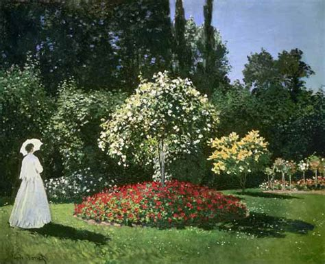 claude monet donne in giardino donna in giardino quadro di claude monet