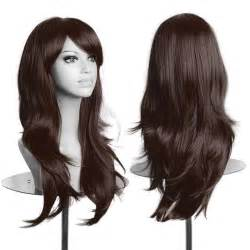 hair wigs women lady long hair wig curly wavy synthetic anime