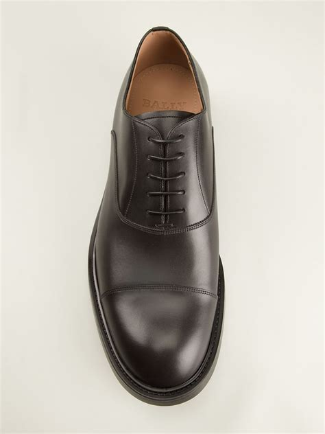 bally oxford shoes bally oxford shoes in black for lyst