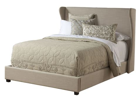 cream upholstered bed cream upholstered wing king platform bed from pulaski 1882 270 271 coleman furniture