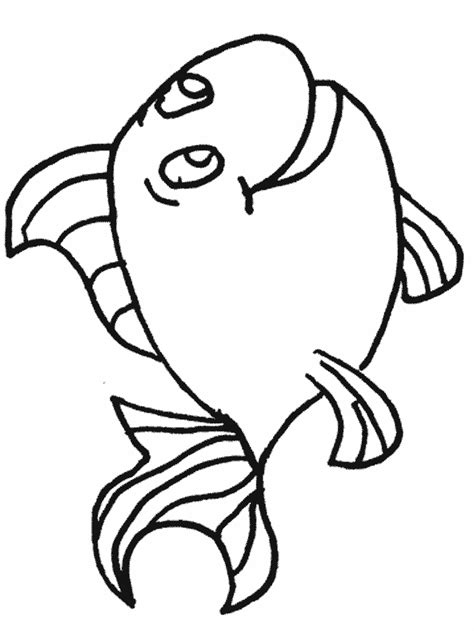 fish coloring pages for kindergarten fish template preschool coloring home