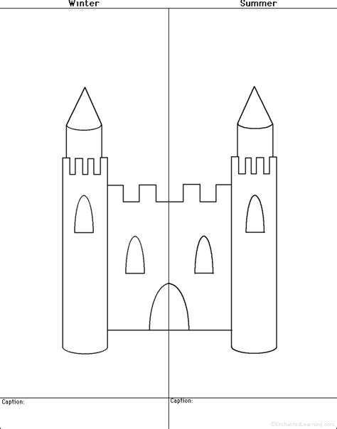 castle template and castles at enchantedlearning