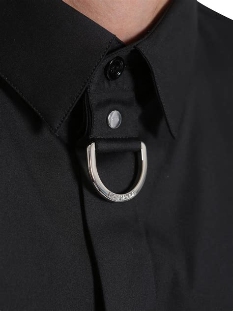 Topi Polos Metal Buckel Polos homme shirt with metal buckle nero s shirts