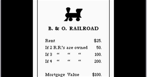 monopoly railroad card template monopoly railroads monopoly railroad monopoly atari 8