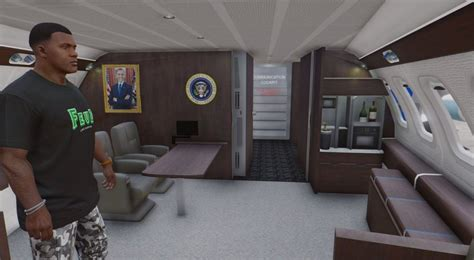 air one interior gta 5 air one boeing vc 25a enterable interior add on mod gtainside