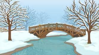 Studio Kitchen Design Ideas a bridge over a frozen stream background cartoon clipart