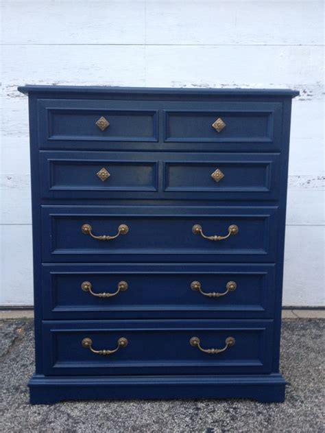navy blue antique dresser navy blue painted highboy dresser by twice loved furniture
