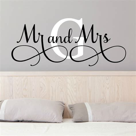 mr wall stickers mr and mrs wall decals mr and mrs stickers newlywed wall