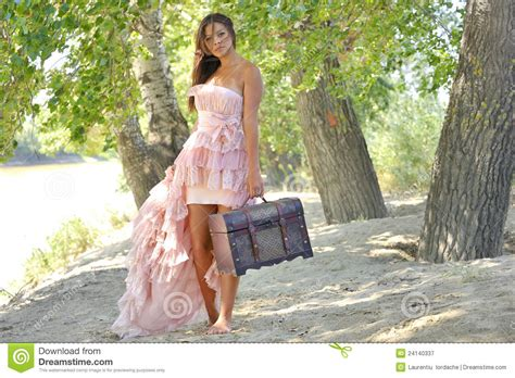 beauty girl in a old fashioned dress stock image image