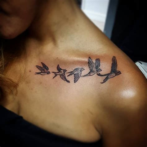 small collar bone tattoo 41 collar bone birds tattoos