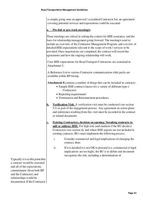 transport agreement template road transportation mangement guideline version for spa