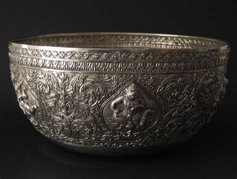 thai silver 493 antique silver bowl thailand thai siam