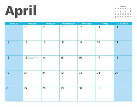 Calendar 2015 April April 2015 Calendar Page Free Stock Photo Domain