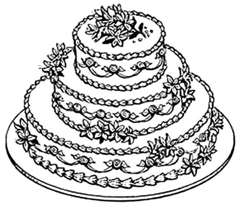 coloring page wedding cake free coloring pages of wedding cake