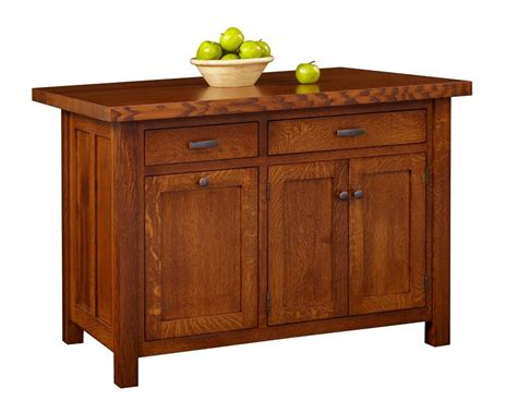 Kitchen island with two drawers and three doors mission kitchen
