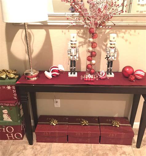 christmas entry table decor entry table decor