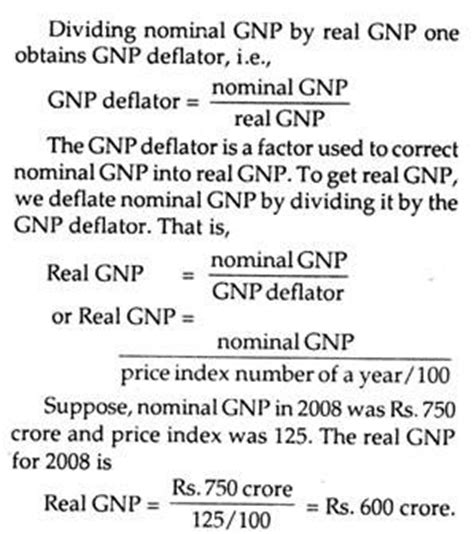 how do you derive real gnp in national income?