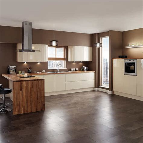 cream gloss kitchen ideas kitchens on display