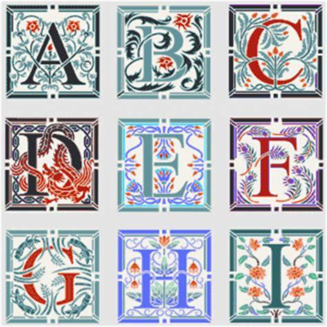 printable illuminated letters alphabet catalogue stencil kingdom