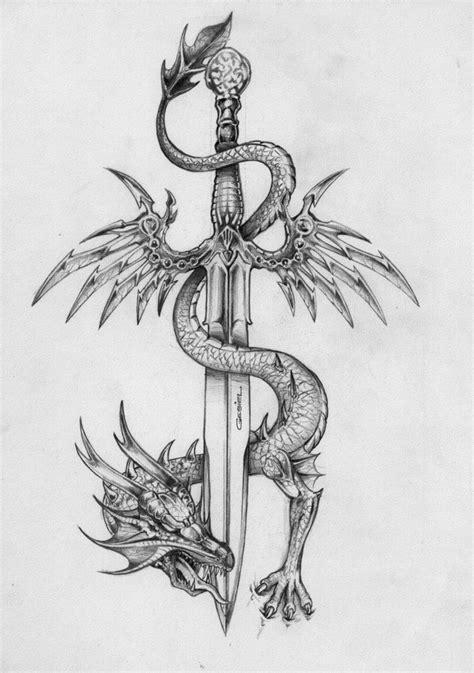 tattoo dragon sword the dragon and the sword flyin by gesielmac on deviantart