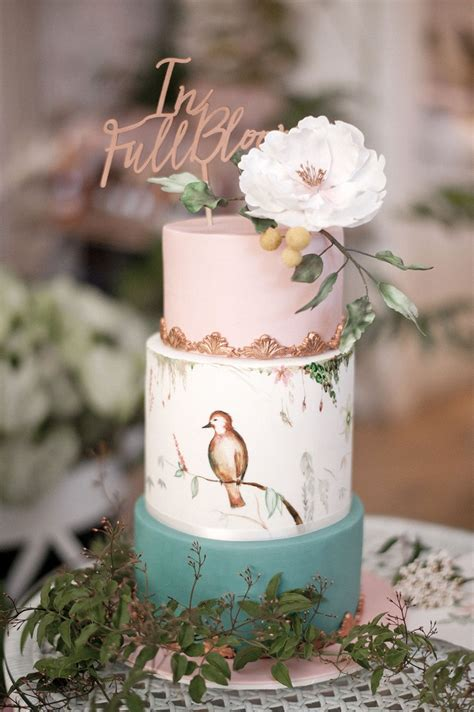 rose themed cake botanical baby shower with rose gold cake photos themed