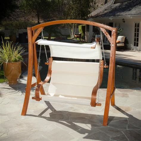swinging patio bench hanging wood bench seat chair swing patio outdoor