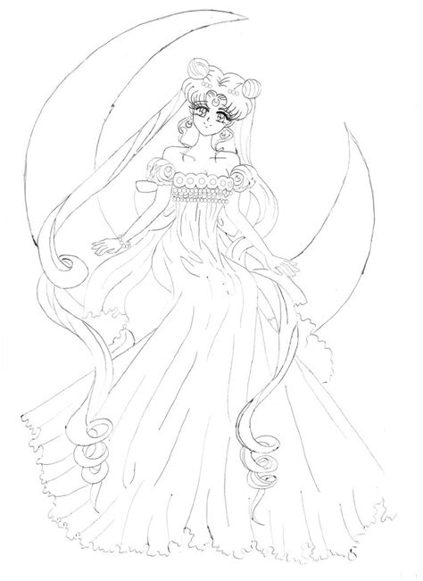 Sailor Moon Princess Serenity By Irinaselena On Deviantart Sailor Moon Princess Serenity Coloring Pages Free Coloring Sheets