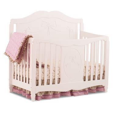Storkcraft Princess 4 In 1 Fixed Side Convertible Crib White Storkcraft Princess 4 In 1 Fixed Side Convertible Crib In White Free Shipping